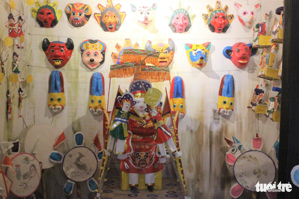 Paper toys are on display at a Mid-Autumn Festival in Hanoi, September 6, 2019. Photo: Thien Dieu / Tuoi Tre