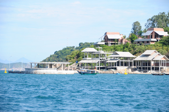 A resort is being built in the Cham Islands. Photo: B.D/ Tuoi Tre