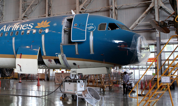 Bird strike leaves dent in Vietnam Airlines plane nose, damages radar