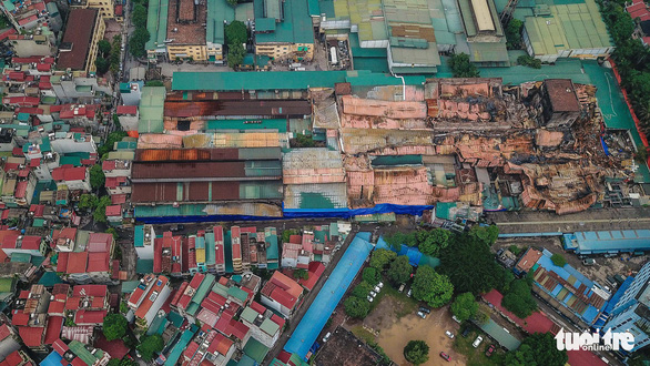 An aerial view of the Rang Dong factory and warehouse complex in Thanh Xuan District, Hanoi. Photo: Nguyen Khanh / Tuoi Tre
