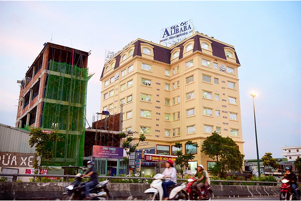 The headquarters of Alibaba Real Estate Corporation in Ho Chi Minh City, Vietnam is seen in this photo taken on September 18, 2019. Photo: Minh Hoa / Tuoi Tre
