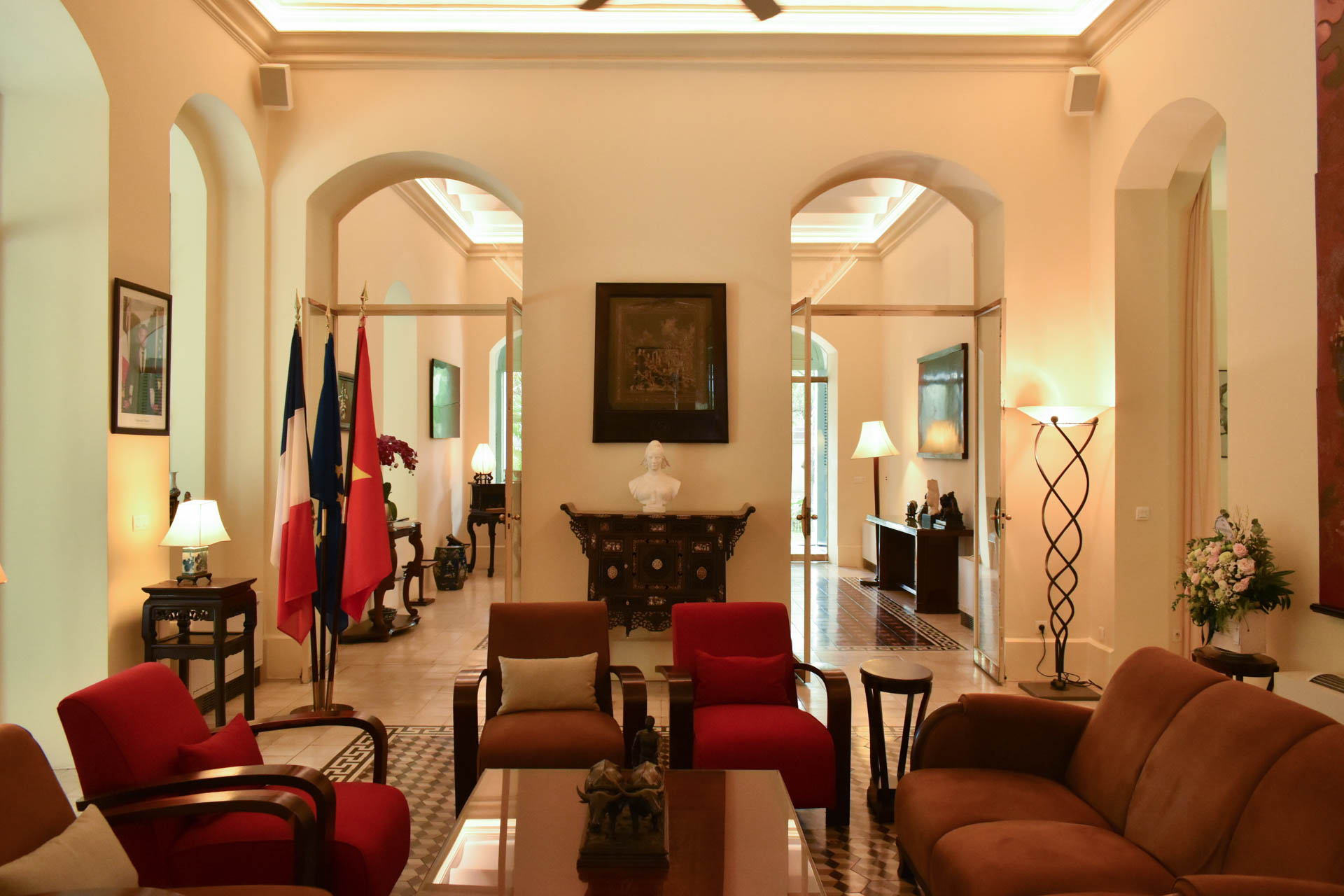 A reception room inside the Consulate General of France in Ho Chi Minh City. Photo: Tuan Son / Tuoi Tre News