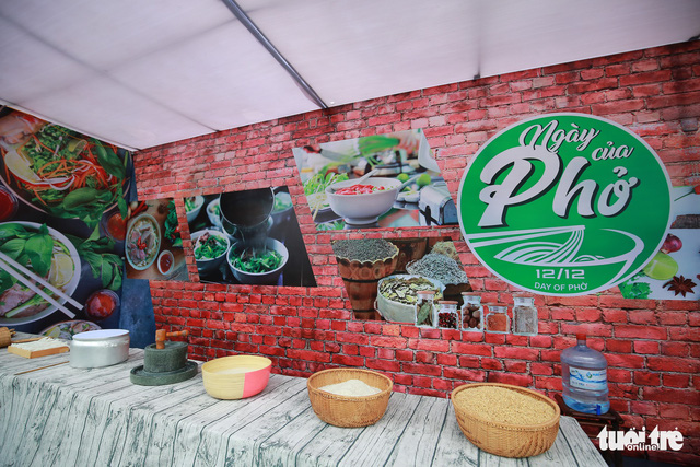 A booth at the 2018 Day of Pho in Hanoi. Photo: Tuoi Tre