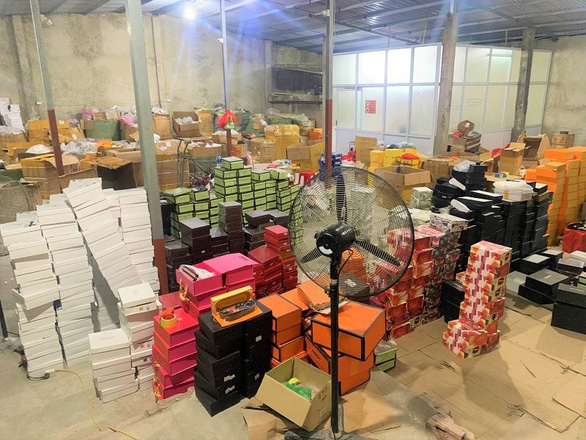 The products are found at a warehouse in the northern Vietnamese city of Hai Phong in this photo supplied by officers.