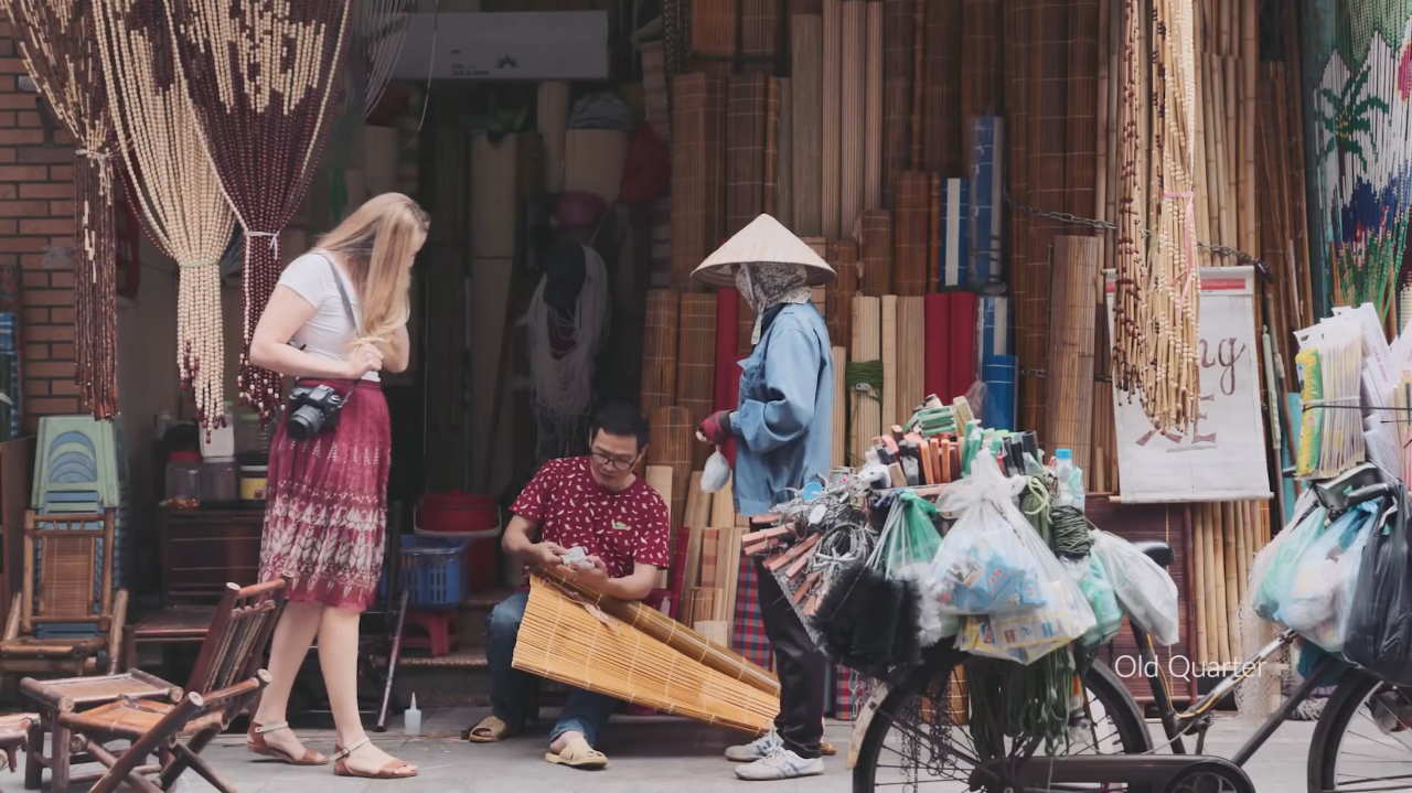 A still shot from 'Hanoi-Cradle of Heritage', a 30-second promotional video on Hanoi aired on CNN.
