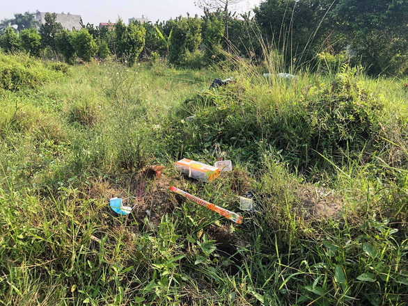 The location where S.'s body was found on September 28, 2019. Photo: Danh Trong / Tuoi Tre