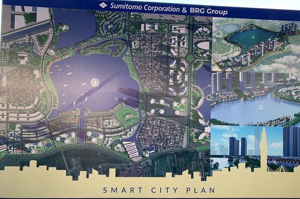 Illustrations of the smart city project. Photo: Xuan Long / Tuoi Tre