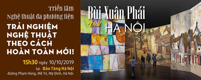 An advertisement for the gallery of late Vietnamese painter Bui Xuan Phai. Photo: Vietnam News Agency