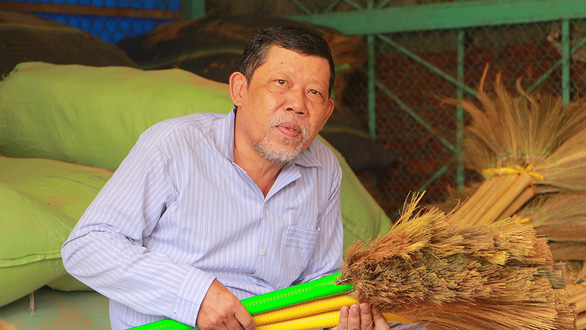 Vietnam man swept along by traditional broom-making craft in Mekong Delta