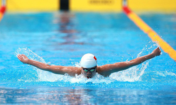Vietnamese swimmer wins silver at Military World Games in China