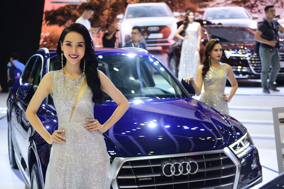 An Audi automobile is presented at the Vietnam Motor Show 2019. Photo: Quang Dinh / Tuoi Tre