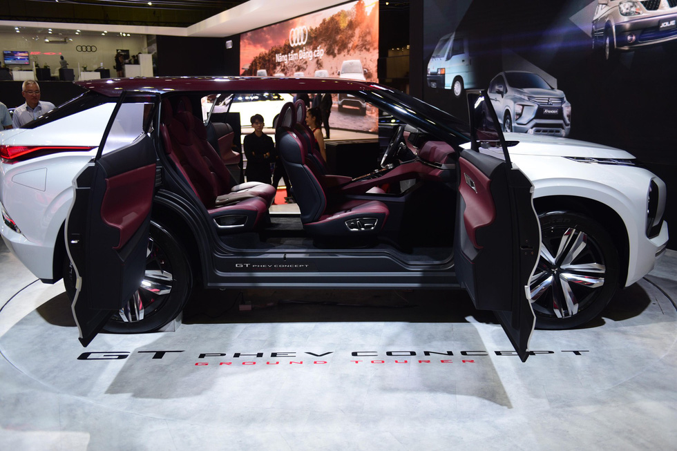 A new model of Mitsubishi is displayed at the Vietnam Motor Show 2019. Photo: Quang Dinh / Tuoi Tre