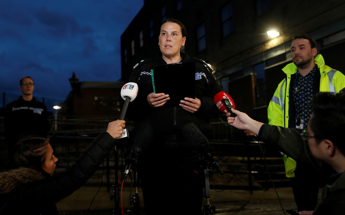 Deputy Chief Constable Pippa Mills of Essex Police makes a statement outside Grays police station, after bodies were discovered in a lorry container in Grays, Essex, Britain October 25, 2019. Photo: Reuters