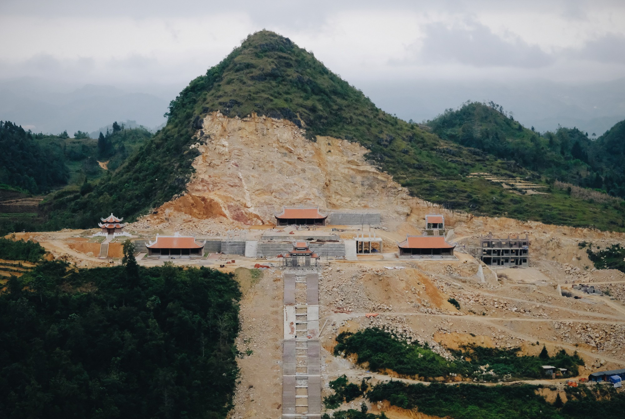 Mountain flattened for tourism project near Vietnam's iconic flagpole