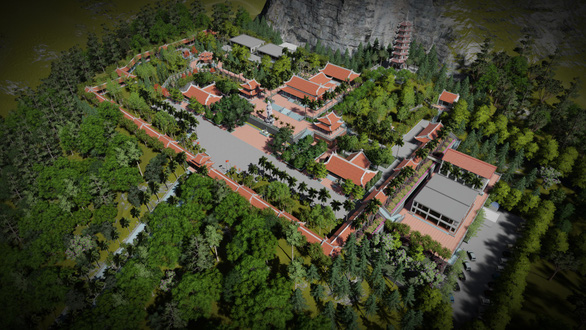 An architect's impression of a massive religious tourism complex in Lung Cu Commune, Dong Van District, Ha Giang, Vietnam is seen in this provided photo
