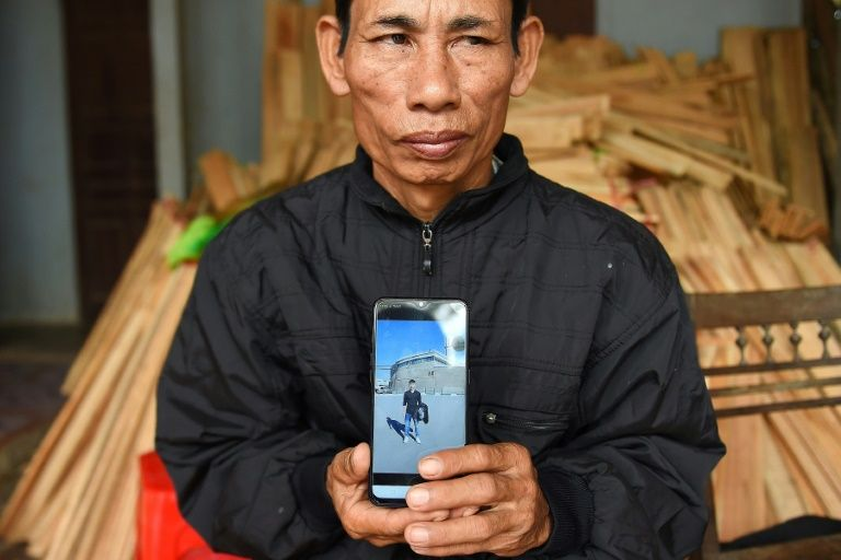 'We still owe nearly $8,600,' said Nguyen Dinh Gia, who believes his son Nguyen Dinh Luong was in the truck found in the industrial outskirts of London. Photo: AFP