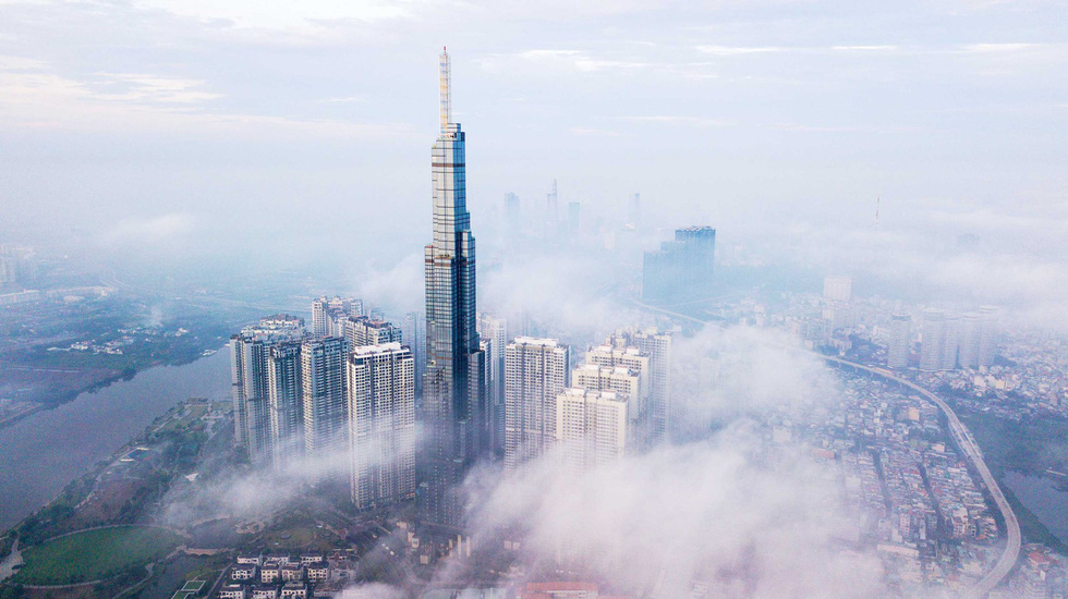 The Landmark 81 skyscraper towers over other buildings in Binh Thanh District, Ho Chi Minh City. Photo: Quang Dinh / Tuoi Tre