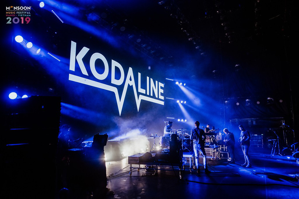 Irish rock band Kodaline performs at the 2019 Monsoon Music Festival in Hanoi, November 1, in this photo from the organizer