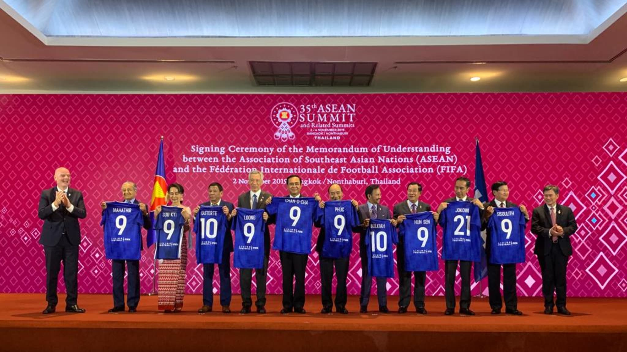 Southeast Asian leaders meet FIFA chief amid World Cup bid talks