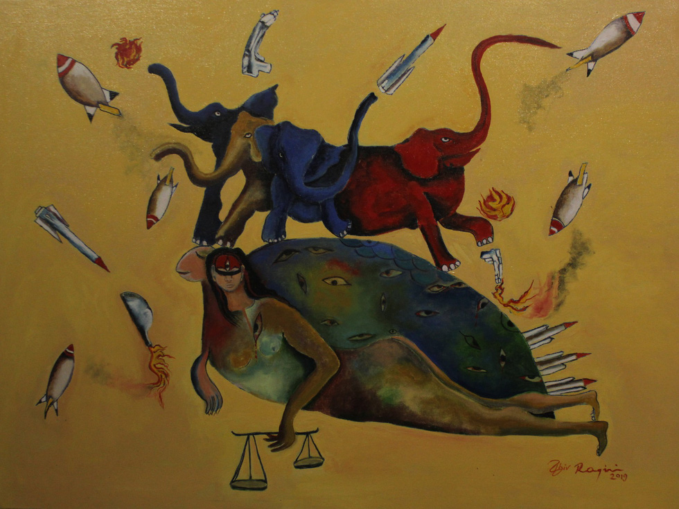 A painting by Nepali artist Ragini Upadhyay Grela