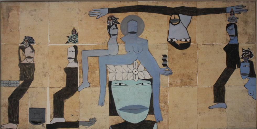 A painting by Vietnamese artist Dang Xuan Hoa