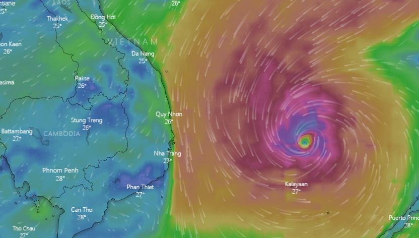 Storm Nakri heads towards south-central Vietnam