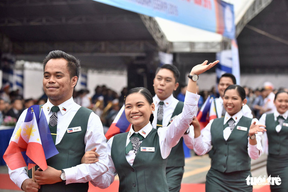 The Philippines' delegates of the SSEAYP 2019. Photo: Duyen Phan / Tuoi Tre