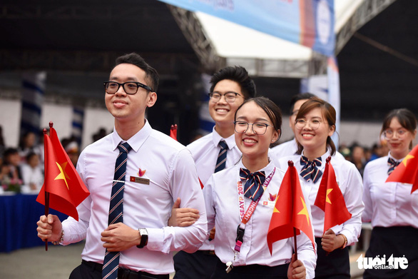 Vietnamese delegates of the SSEAYP 2019. Photo: Duyen Phan / Tuoi Tre