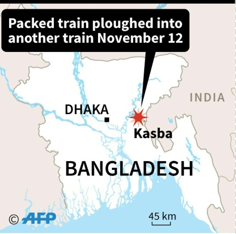 Bangladesh train collision kills 15, toll could rise