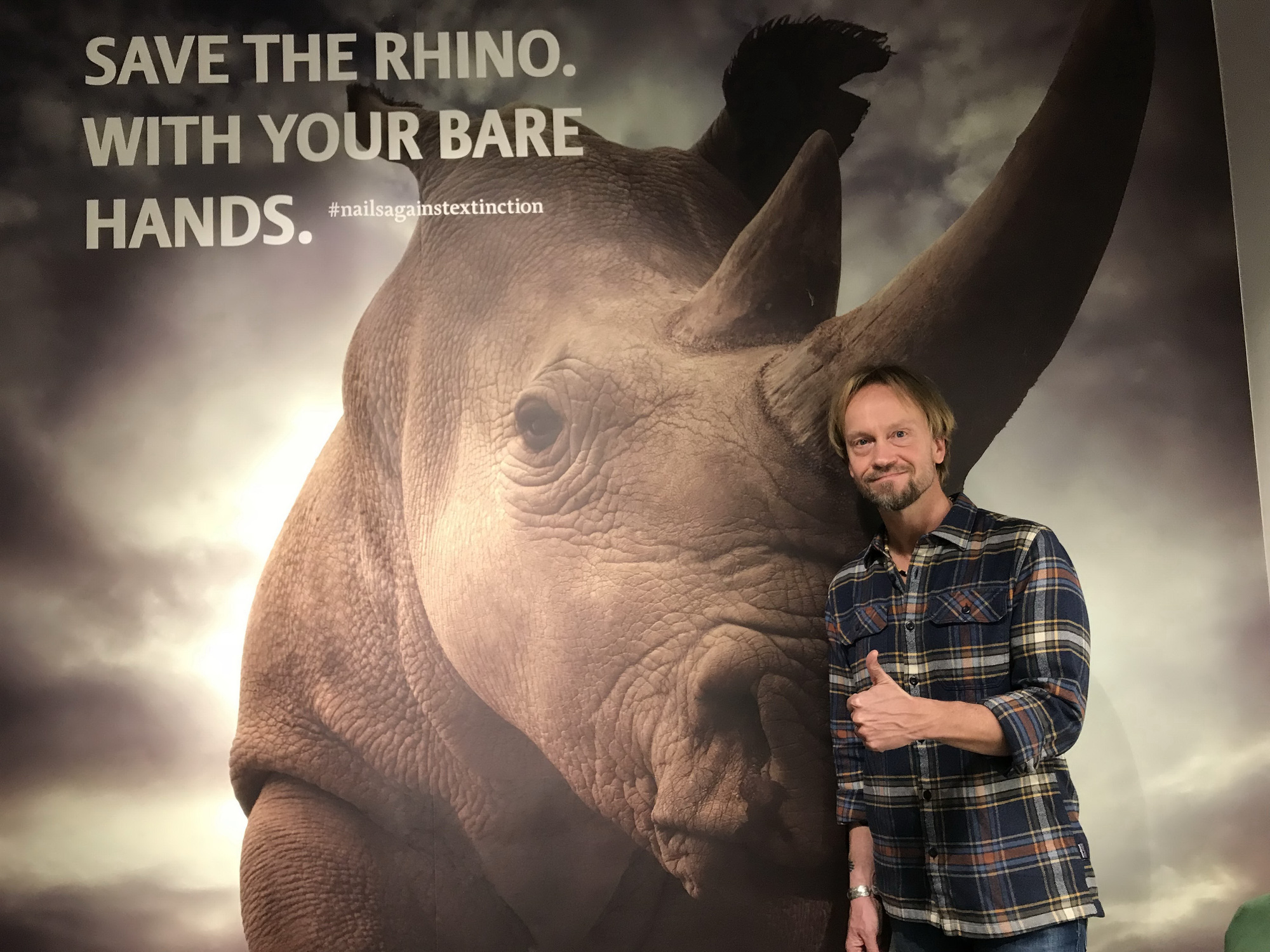 Swedish wildlife photographer Bjorn Persson at an exhibition in Stockholm, Sweden.