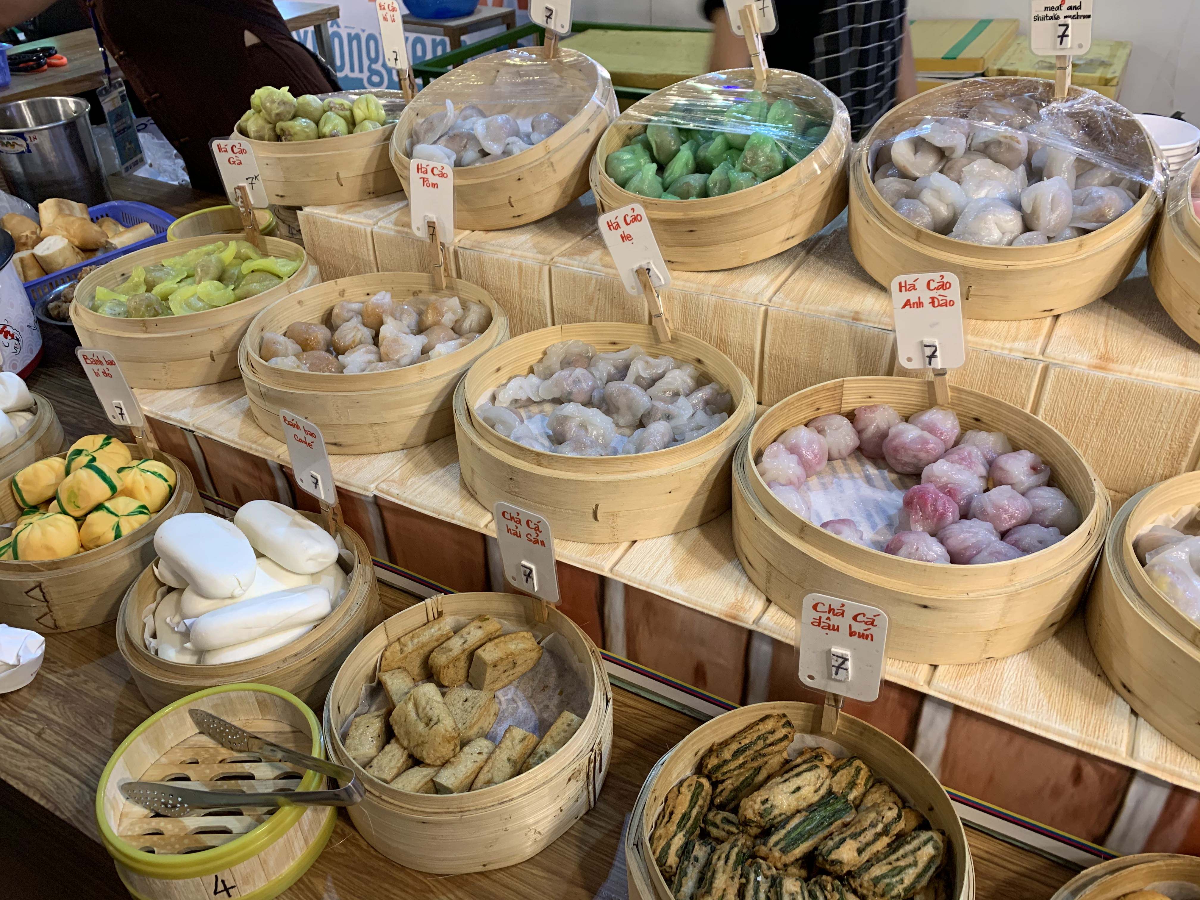 Dumplings on sale at the international food festival held at the Youth Cultural House in District 1, Ho Chi Minh City, November 14, 2019. Photo: Bao Anh / Tuoi Tre News