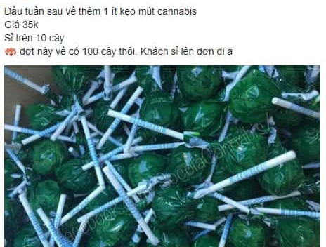 In Vietnam, cannabis candies traded widely online