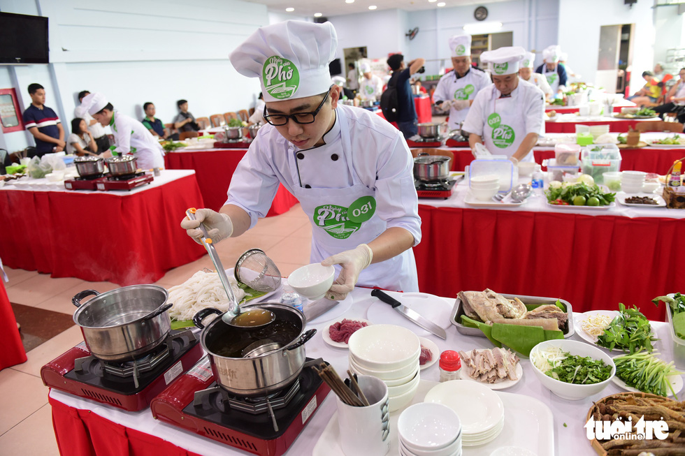 Dozens compete for title of best 'pho' chef in southern Vietnam