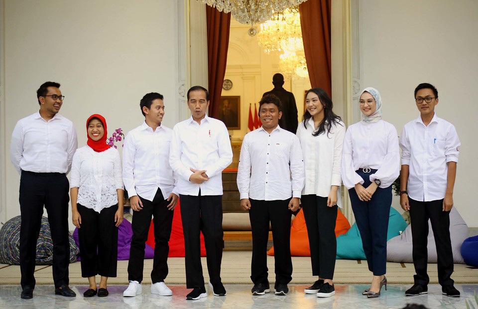 Millennials in President Jokowi's inner circle