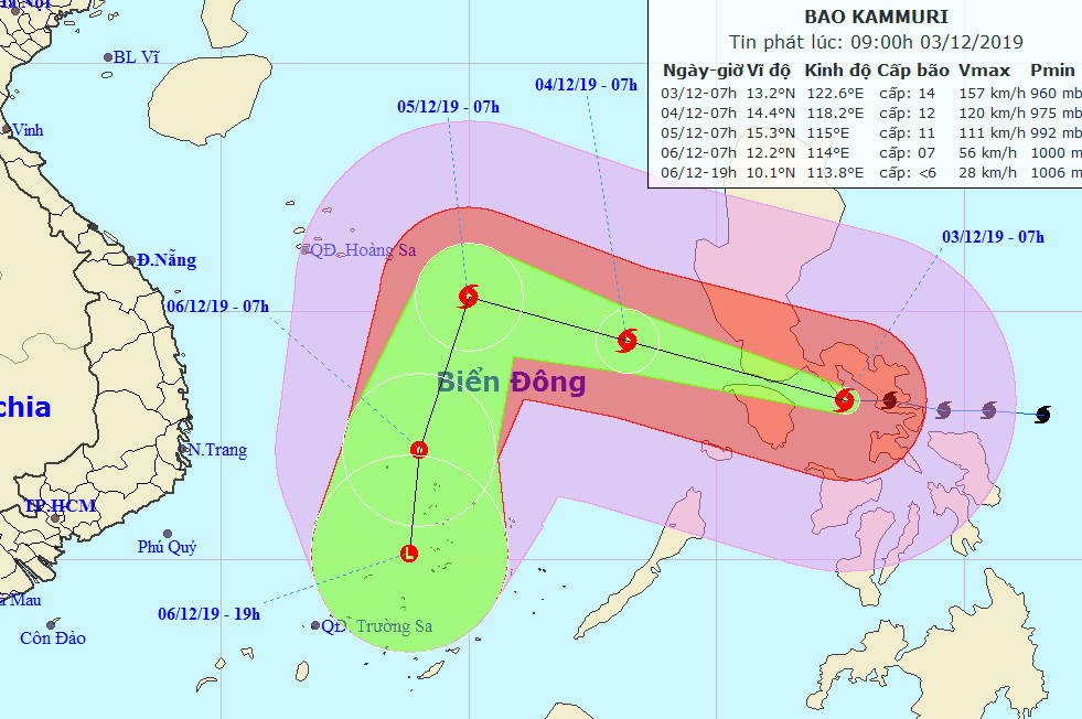 Storm Kammuri to enter East Vietnam Sea