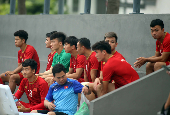 Vietnam U22 team at a training session in Manila, the Philippines on December 2, 2019. Photo: N.K. / Tuoi Tre