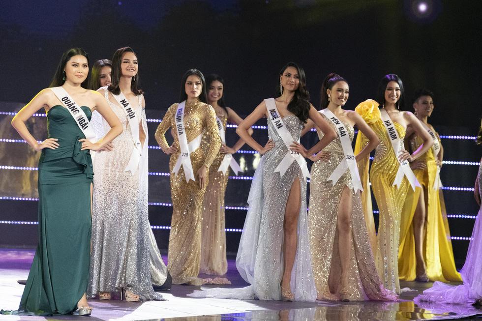 45 beauties compete in Miss Universe Vietnam's semifinal round