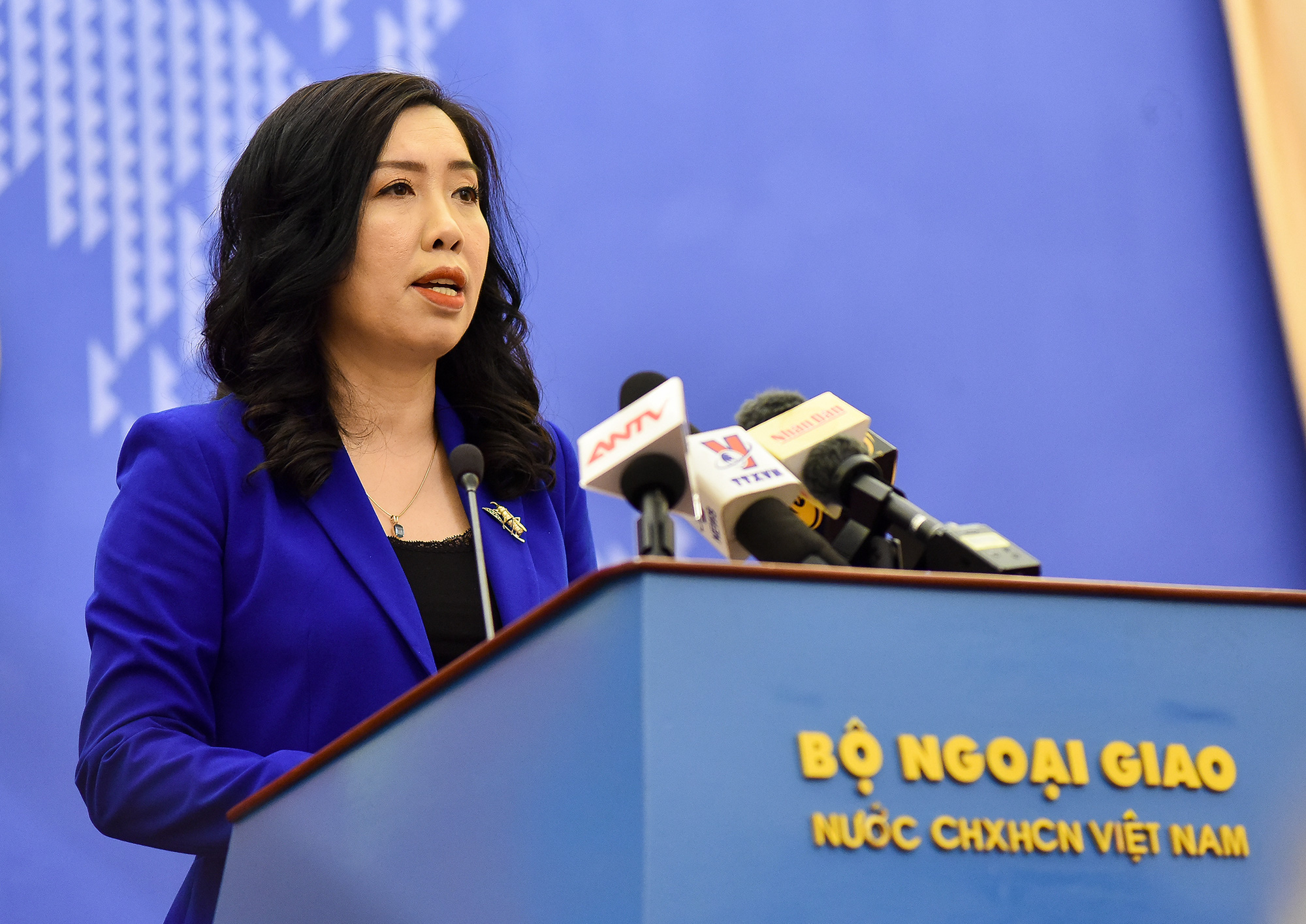 Le Thi Thu Hang, spokesperson of the Vietnamese Ministry of Foreign Affairs. Photo: Ministry of Foreign Affairs