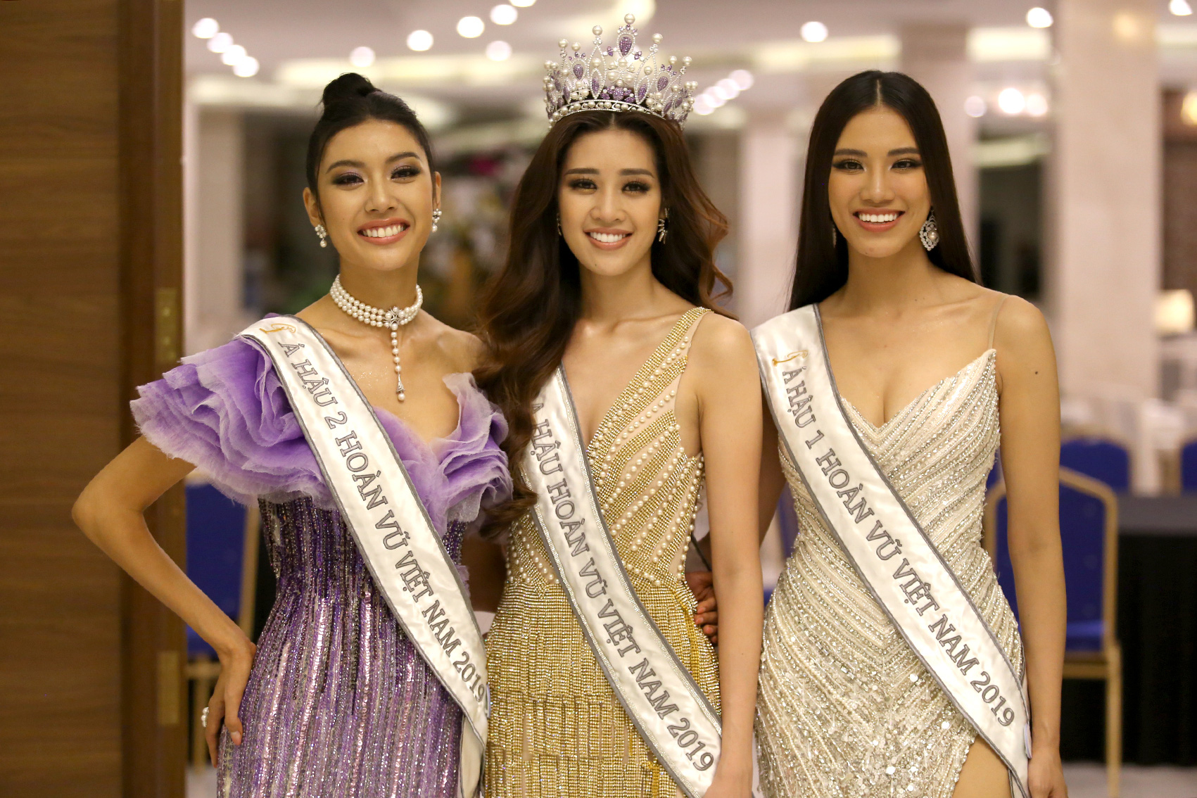 The top three of Miss Universe Vietnam 2019