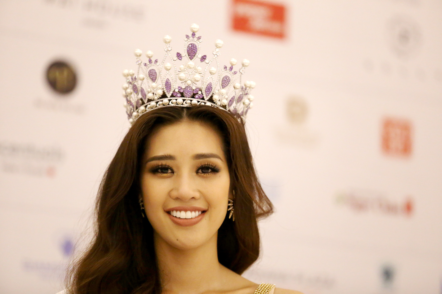 Nguyen Tran Khanh Van is crowned Miss Universe Vietnam 2019 in Nha Trang City on December 7, 2019.
