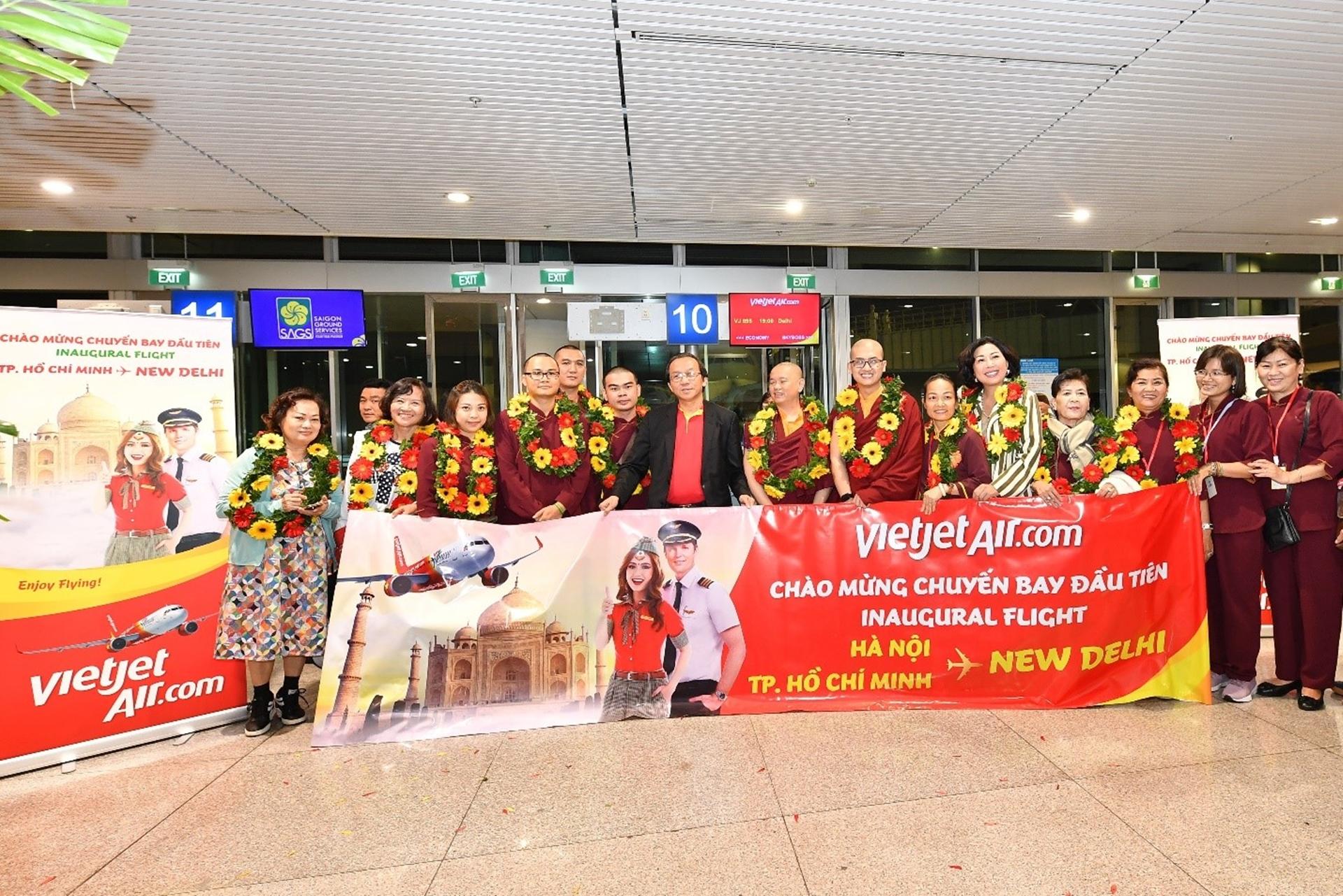 Vietjet operates direct flights from Hanoi, Ho Chi Minh City to New Delhi