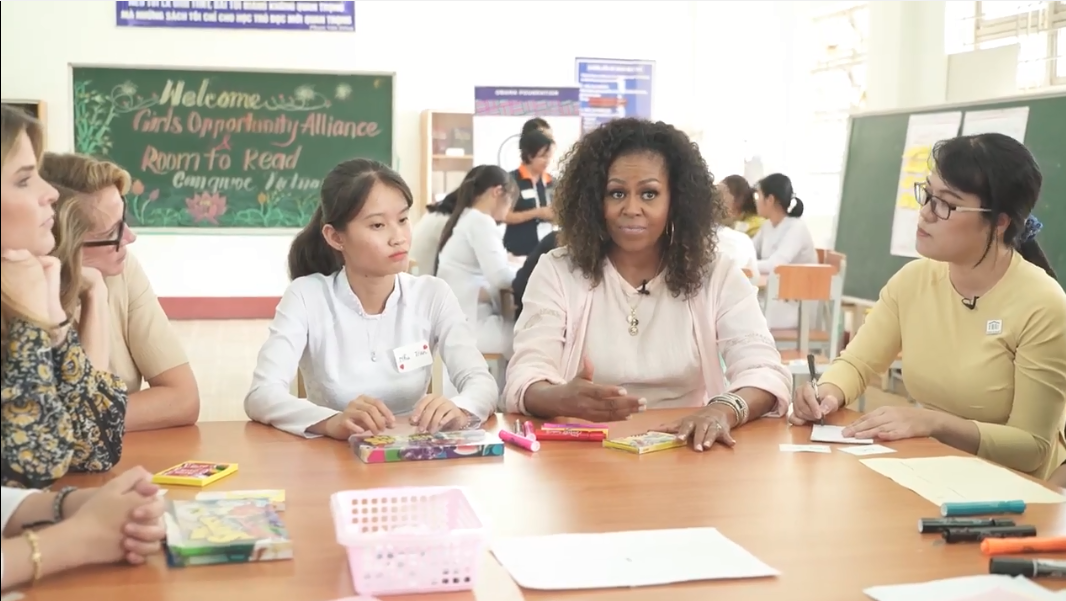 Who are the women Michelle Obama praised in Vietnam?