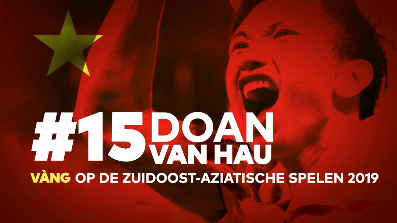 A poster honoring Vietnam's Doan Van Hau for winning the 2019 SEA Games gold medal with Vietnam's national football team is uploaded on the official Facebook page of the Dutch club SC Heerenven on December 13, 2019