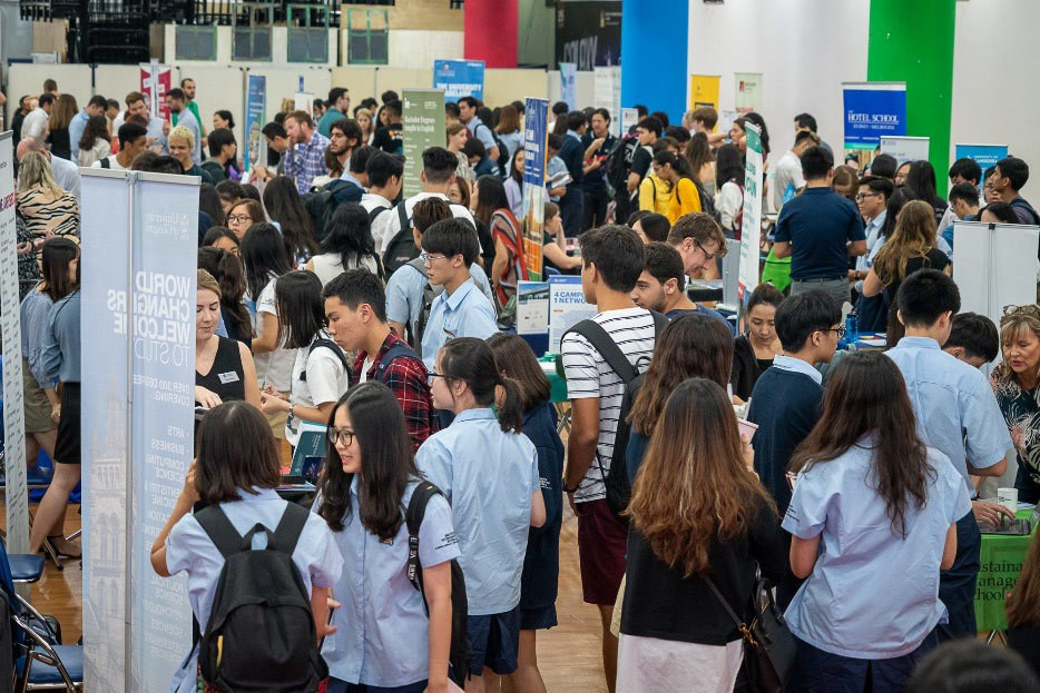 The International Schools of Hanoi University Fair 2019 hosted at BIS Hanoi's campus.