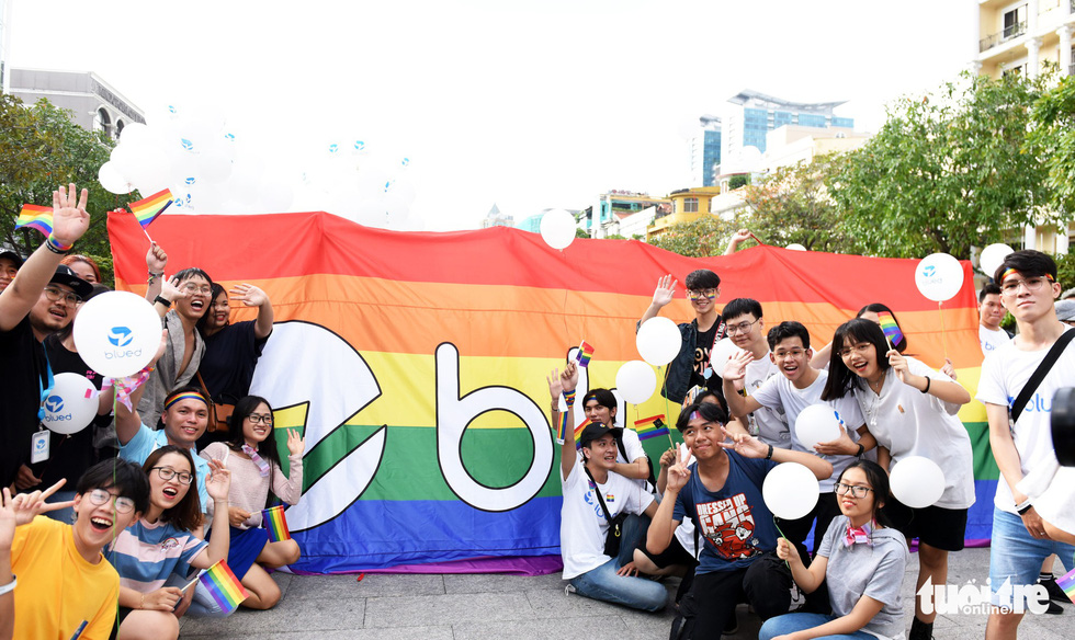 People attend the Ho Chi Minh City VietPride parade to show their support for LGBT community on September 14, 2019. Photo: Duyen Phan / Tuoi Tre