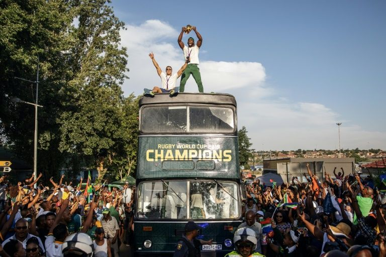 South African Rugby captain Siya Kolisi brought the World Cup to Soweto.