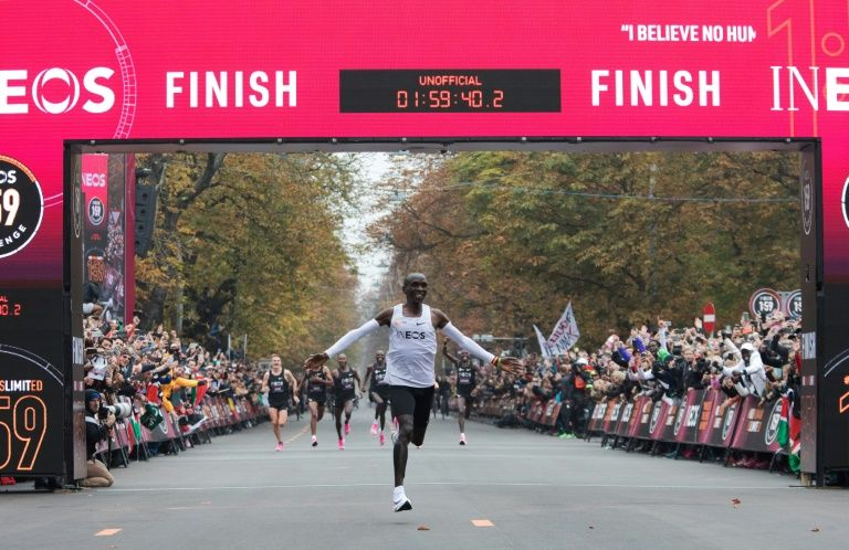Eliud Kipchoge broke one of running's symbolic barriers when he ran the marathon distance in less than two hours.