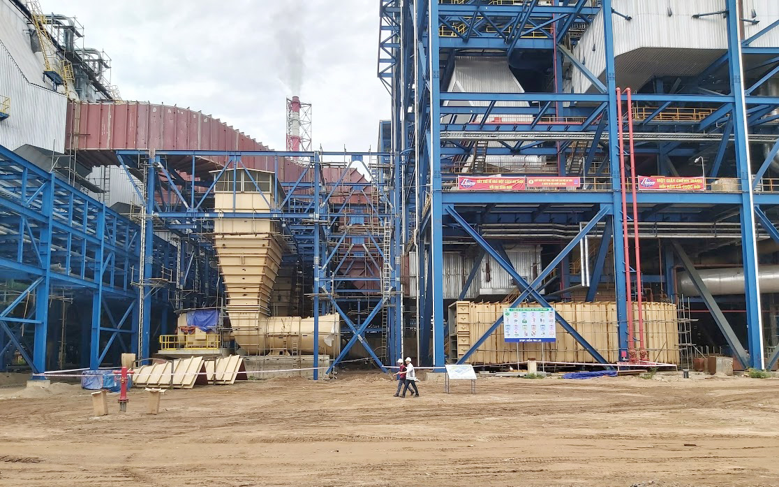 A thermopower plant is under construction in Vietnam. Photo: N. An / Tuoi Tre