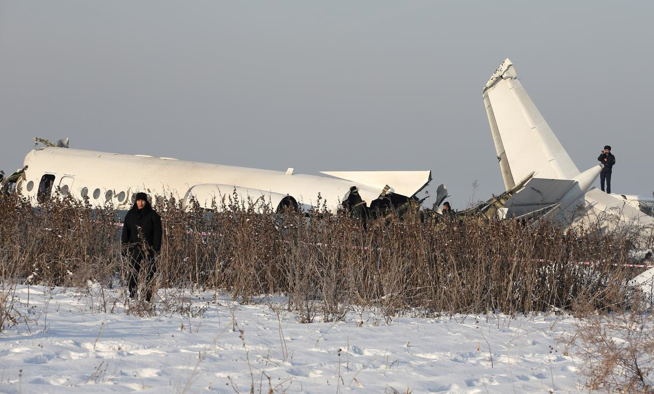 Plane crashes after takeoff in Kazakhstan, killing at least 15