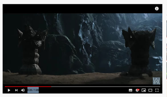 A screenshot shows a scene featuring Son Doong Cave in Vietnam in the trailer for 'Alone, Pt. II' music video